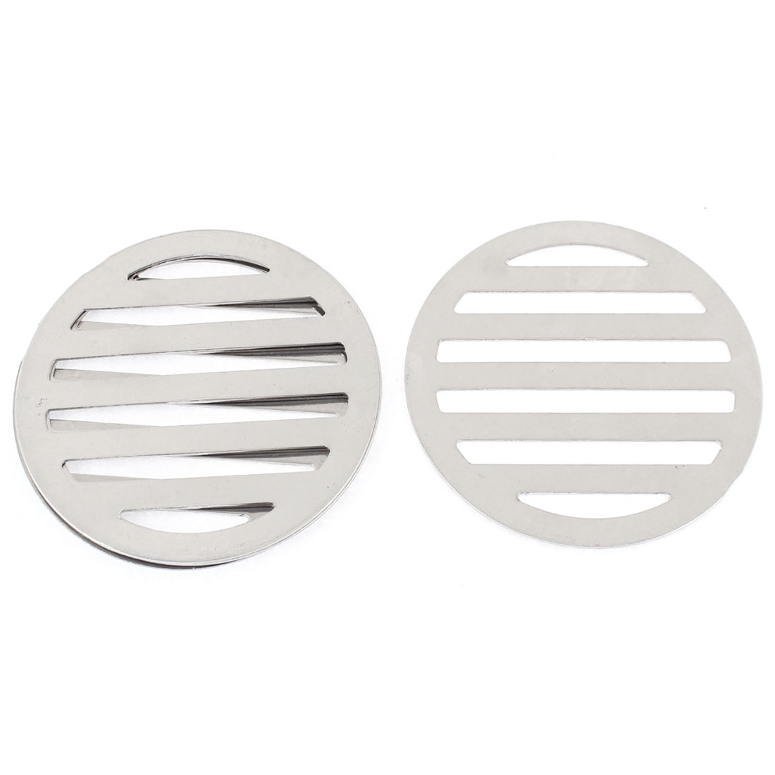 "Stainless Steel Kitchen Bathroom Round Floor Drain Cover 3.4"" 8.6cm 4Pcs"