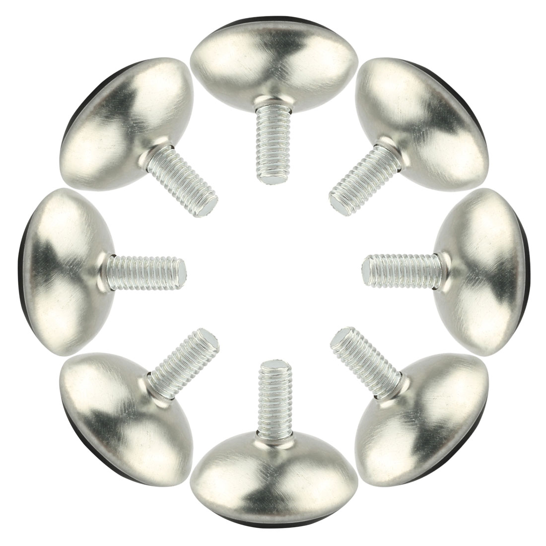 8 Pcs Adjustable Screw On Type Furniture Glide Leveling Feet M6 x 12mm