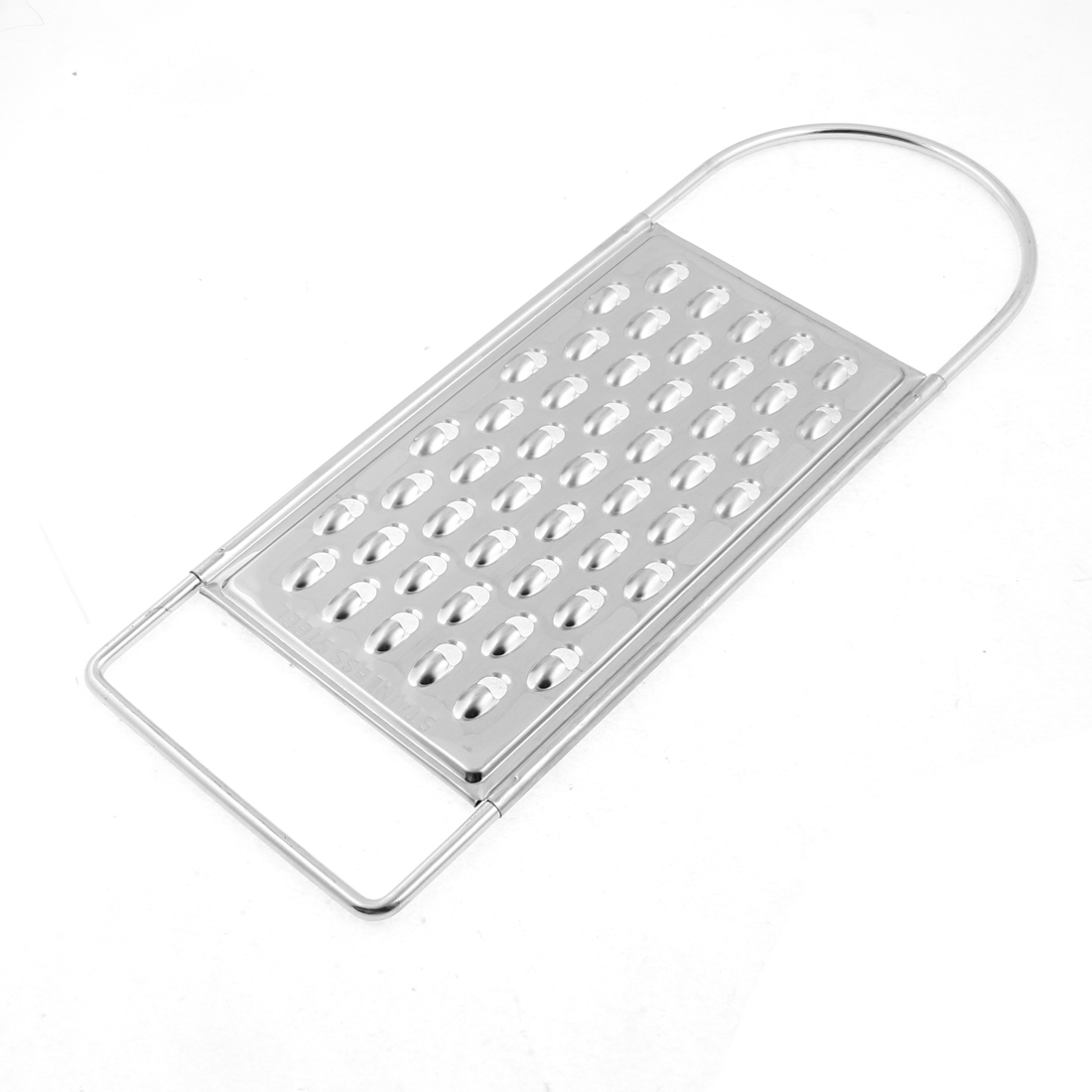 Kitchen Handheld Stainless Steel Potato Carrot Cucumber Shredder Grater Silver Tone