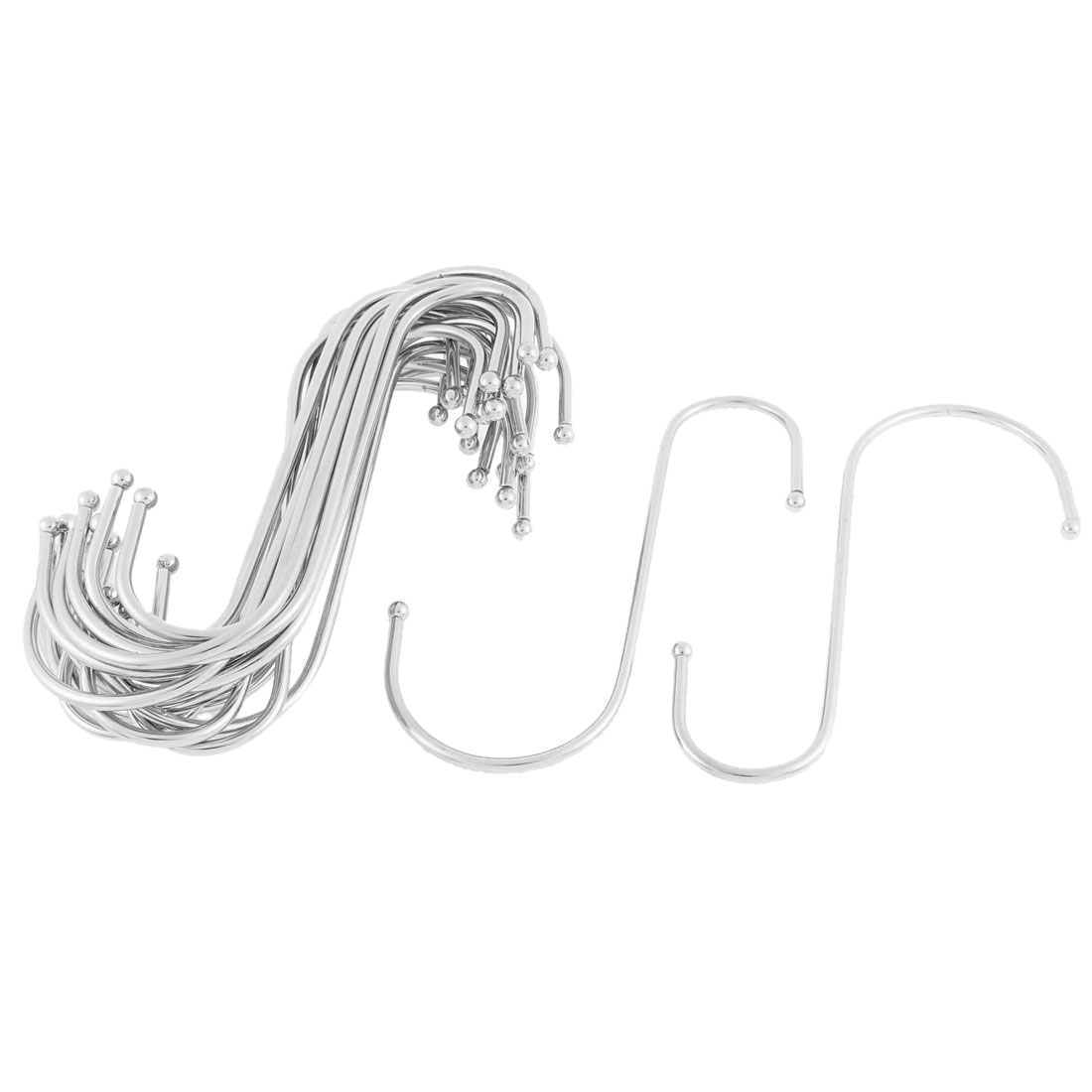 Wardrobe Clothes Stainless Steel S Shaped Hooks Hangers Holder 20pcs