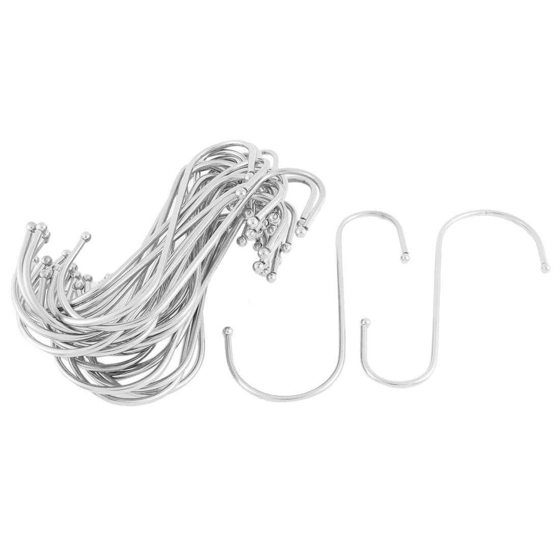Wardrobe Scarf Hat S Shaped Hanging Hooks Hangers Holder Clasp 30pcs
