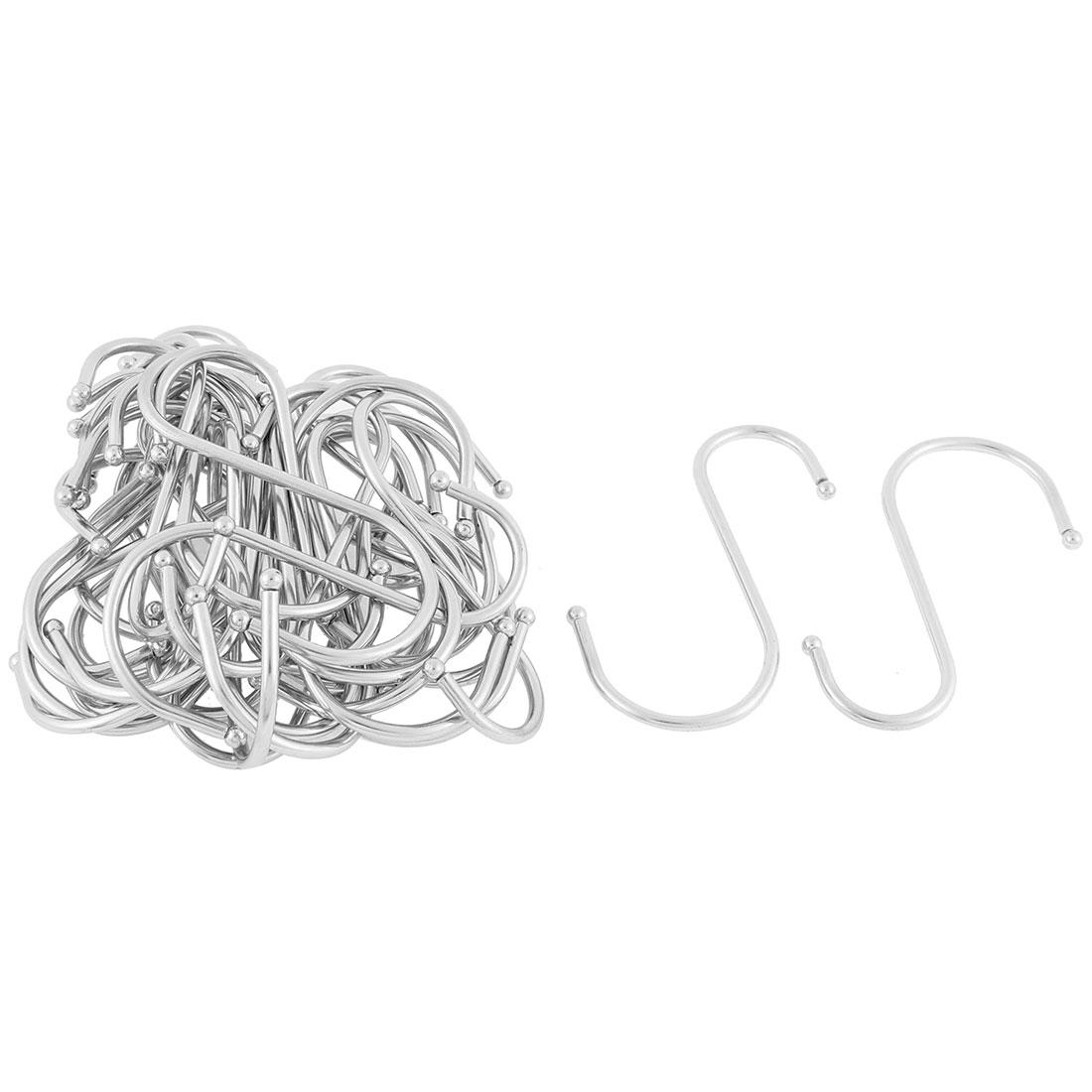 Stainless Steel S Shaped Hanging Hooks Hangers Holder 10cm Long 30 Pcs