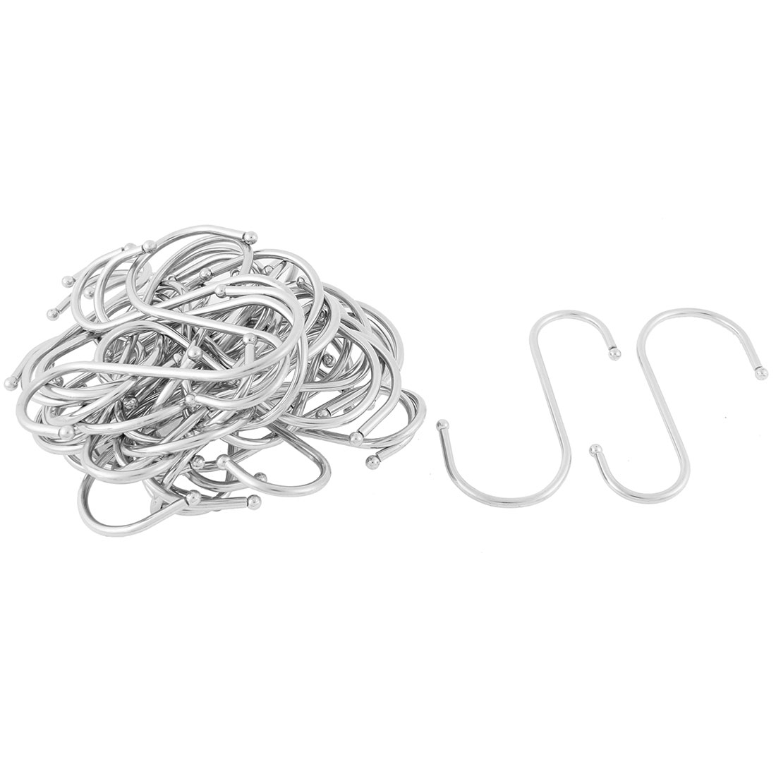 Bedroom Stainless Steel S Shaped Hooks Hangers Holder 4 Inch Long 40pcs
