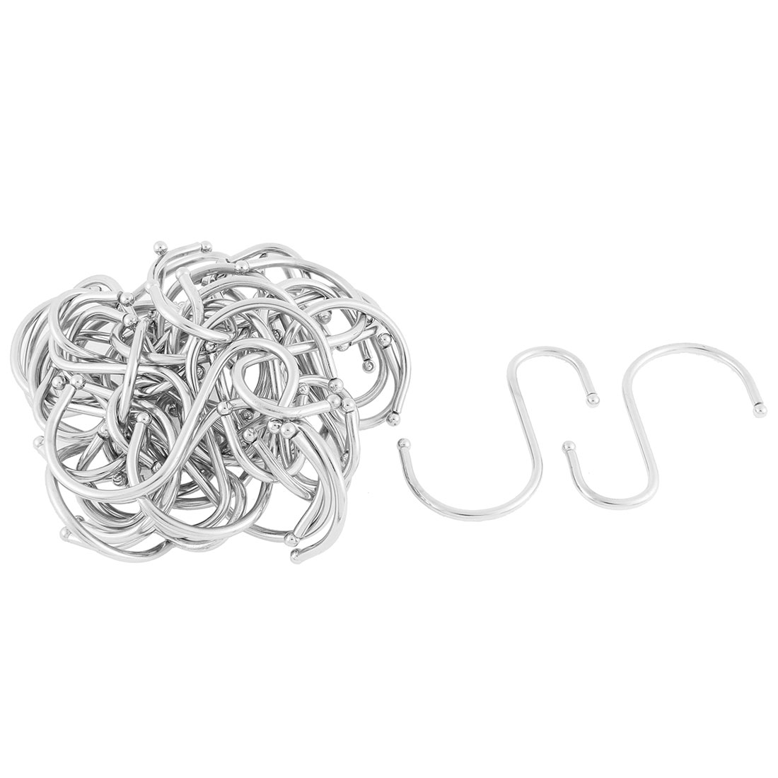 Bathroom Basket Bag Clothes S Shaped Hanging Hooks Hangers Holder 40pcs
