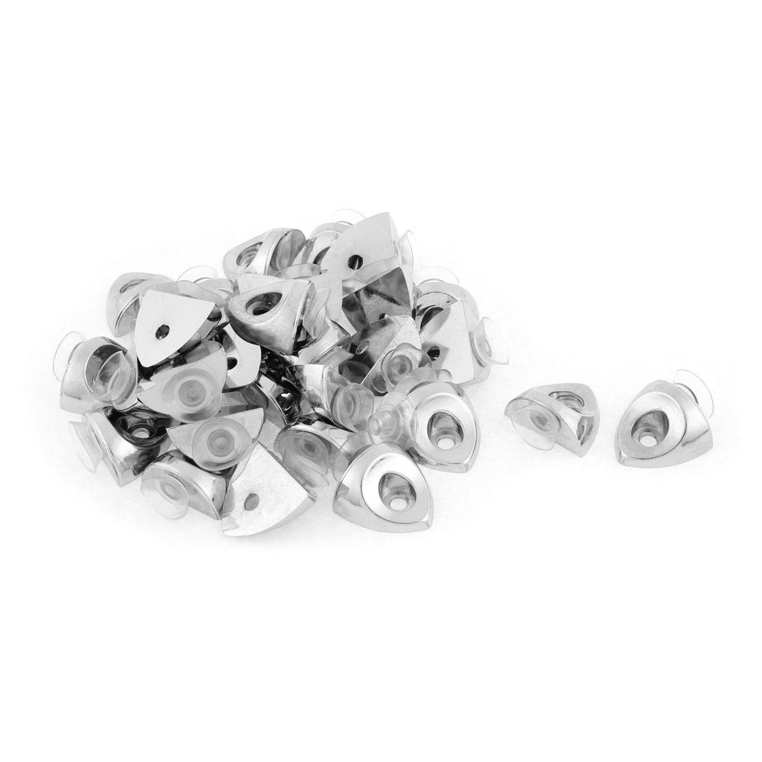 Wardrobe Suction Cup Base Metal Glass Shelf Support Board Bracket Holder 30pcs