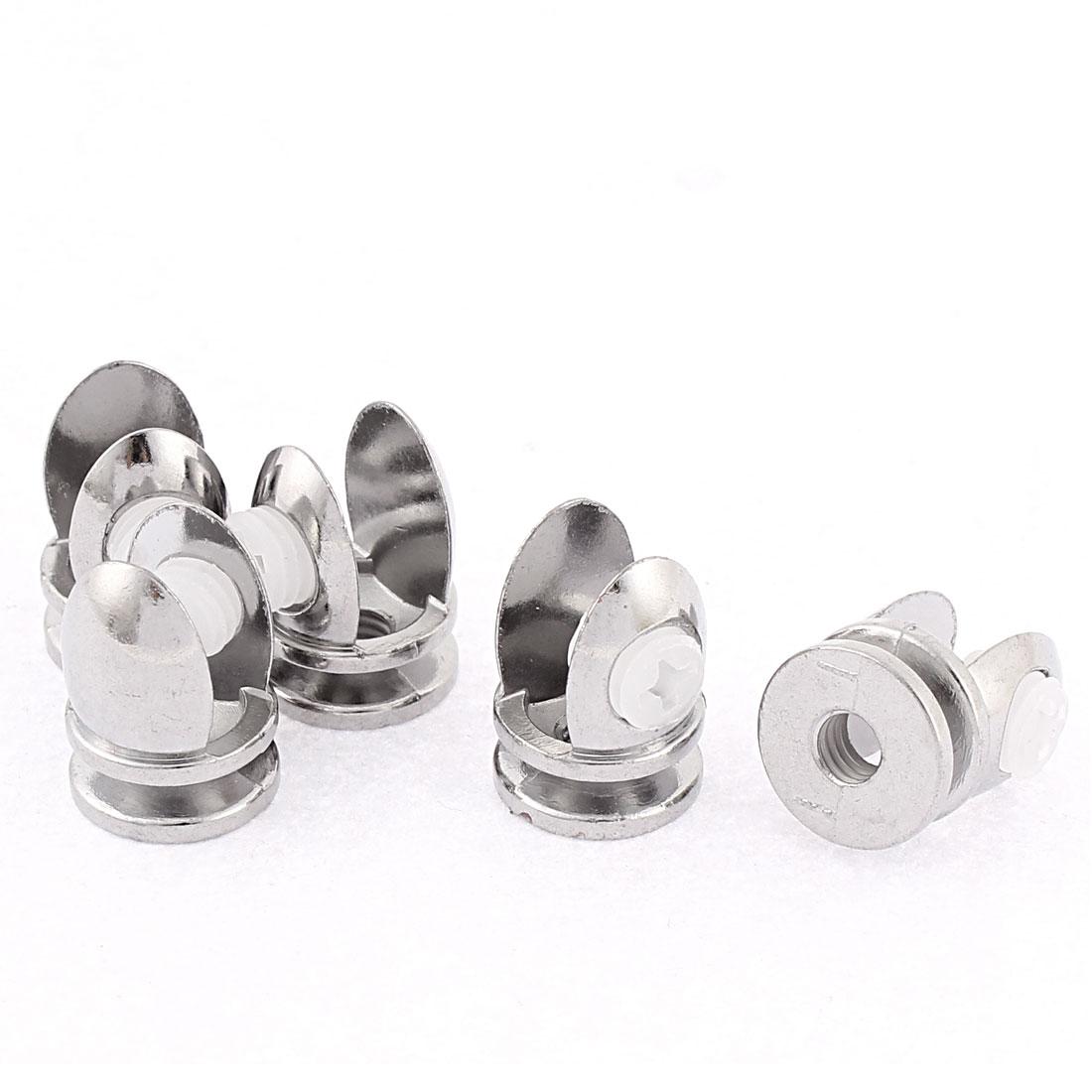 Plastic Screw Mounting 5-8mm Glass Shelf Clamp Clip Holder Support Bracket 5pcs