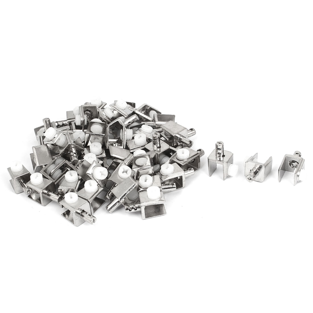 3mm-8mm Thickness Adjustable Screw Type Metal Glass Clips Clamps 50pcs