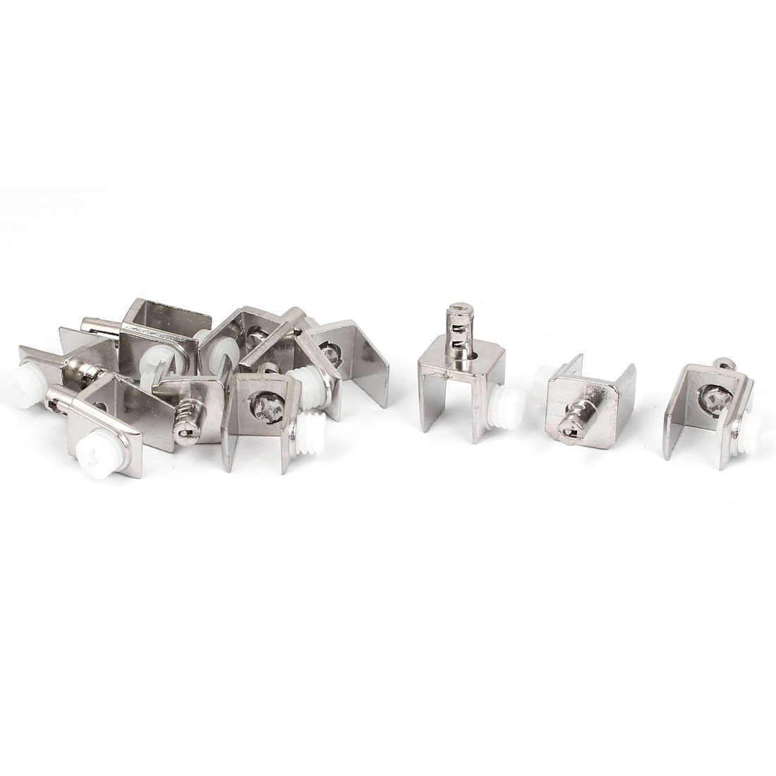 3mm-8mm Thickness Adjustable Screw Type Metal Glass Clips Clamps Holder 10 Pcs