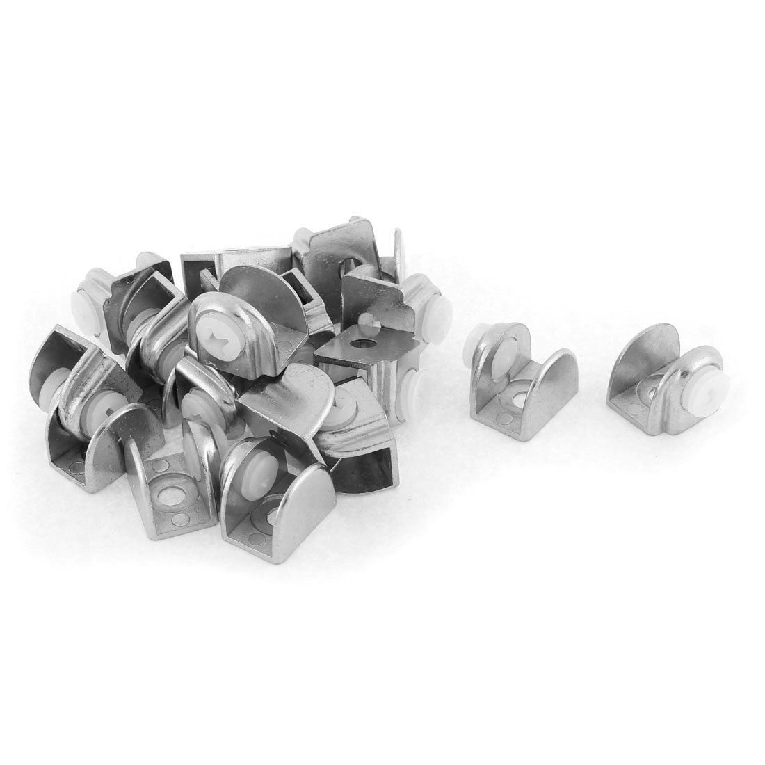 Semicircle 5-9mm Thickness Glass Shelf Clip Clamp Holder Support Bracket 20pcs