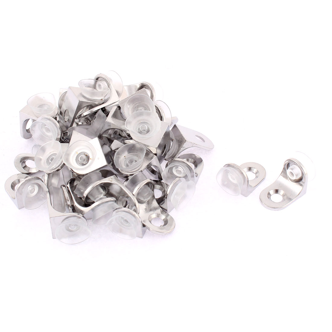 Right Degree Mounting Glass Shelf Support Clamp Clip Brackets Holder 40pcs