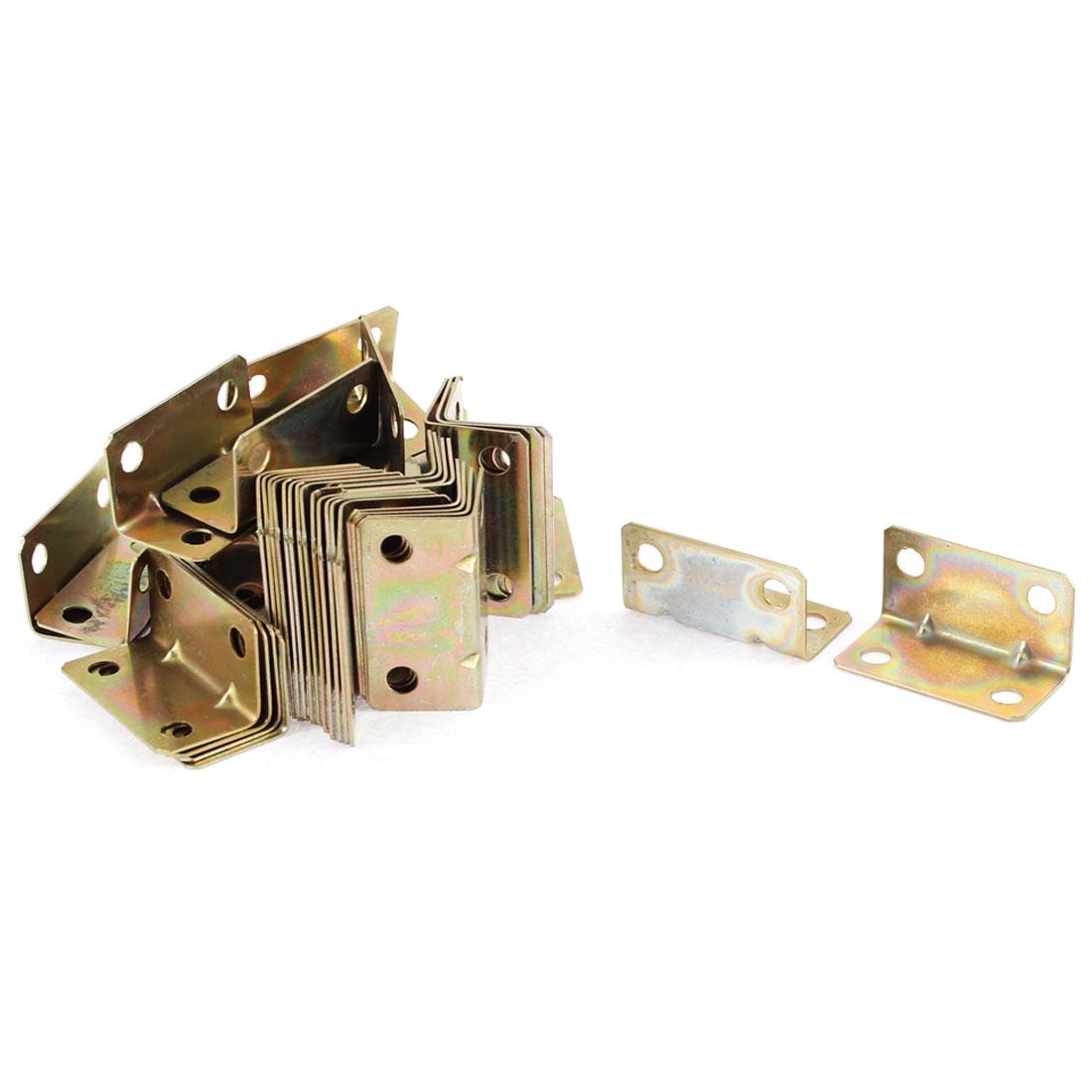 Furniture Door 90 Degree Corner Angle Brackets Fasteners Support 16x16x32mm 50pcs