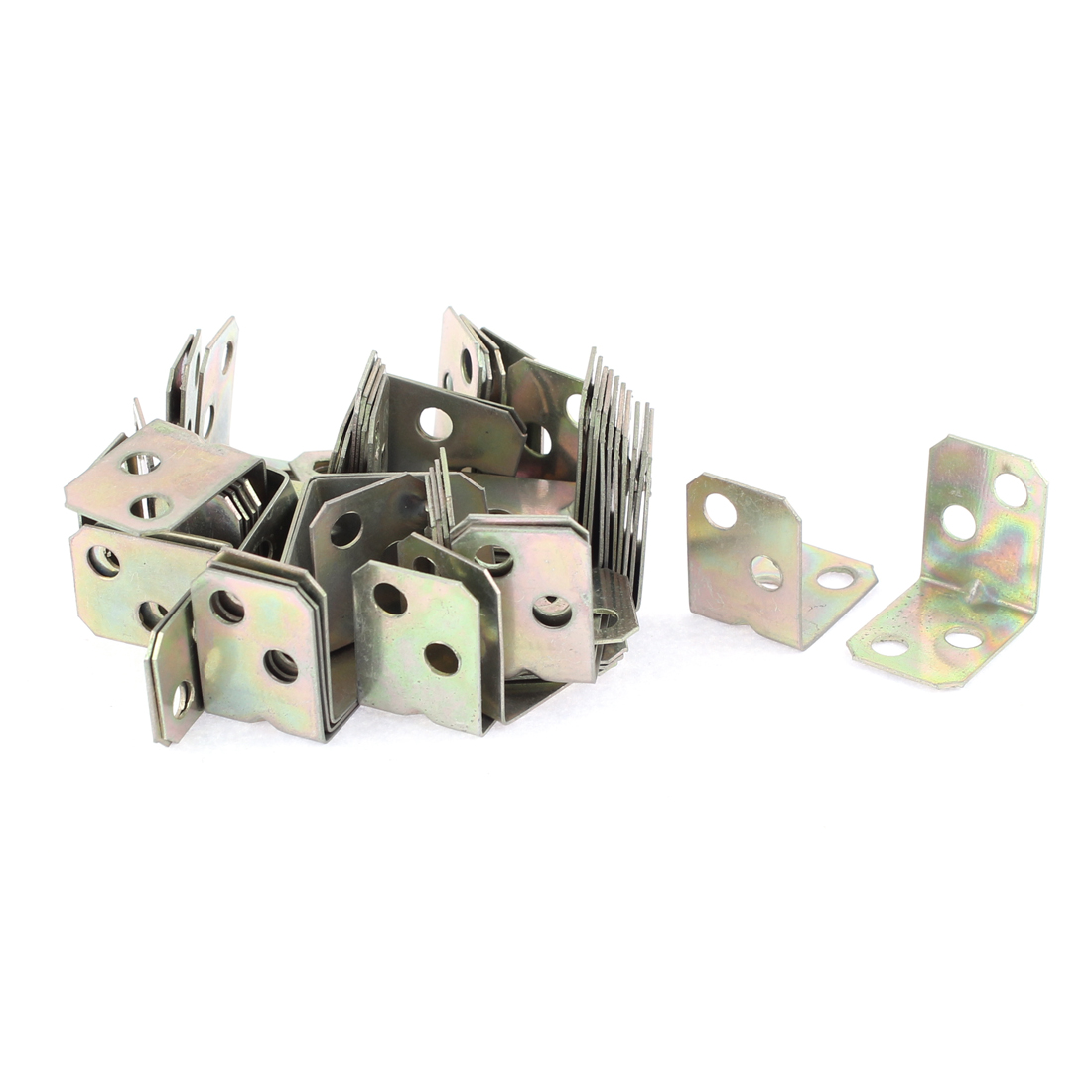 Furniture Door 90 Degree Corner Angle Brackets Fasteners Support 16x16x20mm 50pcs