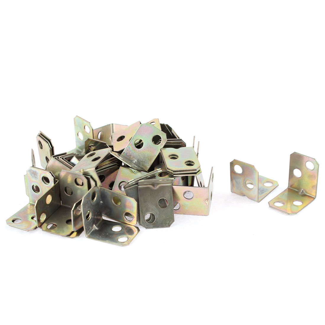 L Shape Corner Brace Joint Right Angle Bracket Bronze Tone 16x16x20mm 60pcs