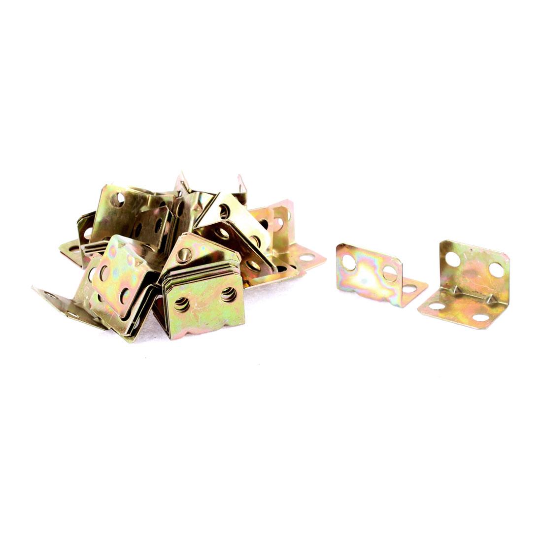 Shelf Door Support Angle Brackets 24 x 16 x 16mm 40pcs