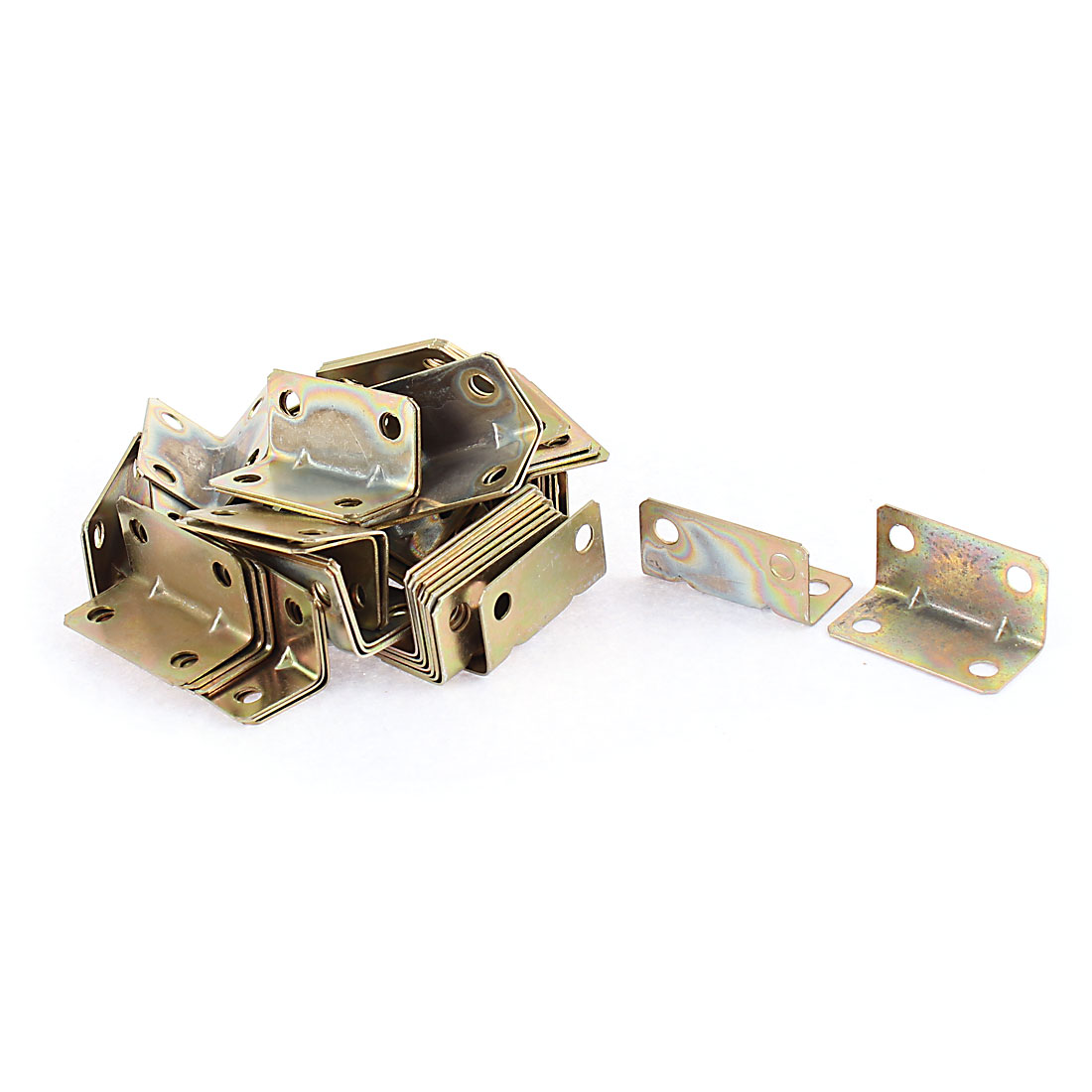 Furniture Door Corner Angle Brackets Fasteners Joint Connector 16x16x32mm 60pcs
