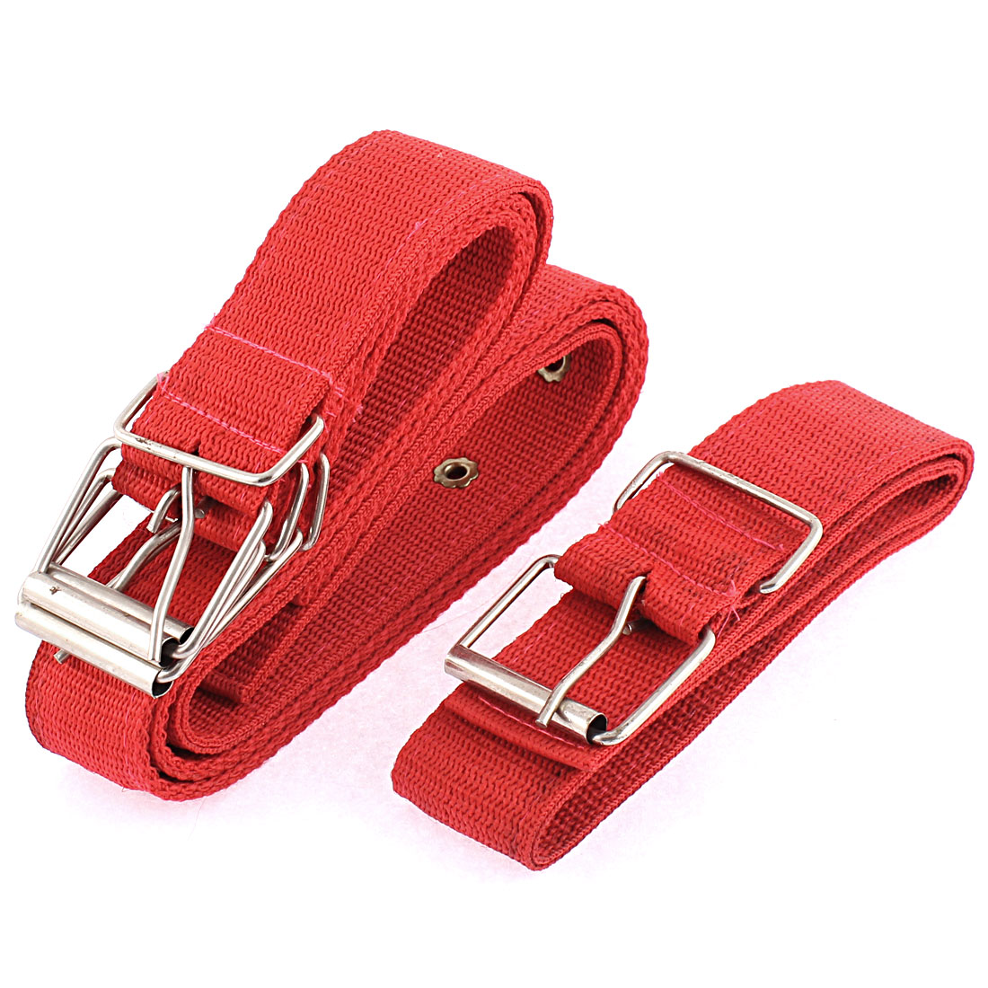 Pet Dog Safety Nylon Single Pin Buckle Lead Harness Belt Collar Red 4pcs