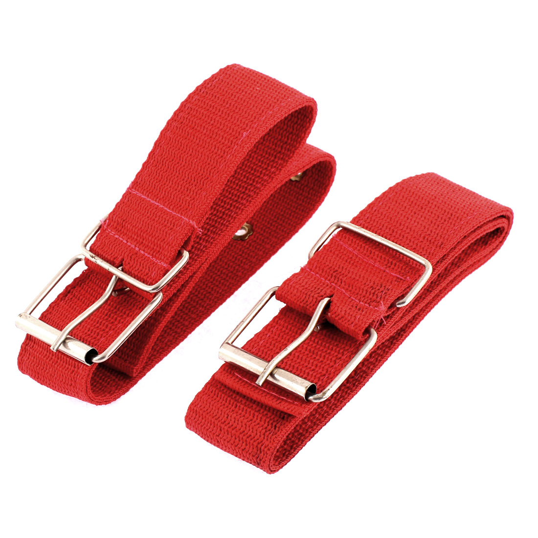 Pet Dog Single Pin Buckle Lead Harness Belt Collar Red 58cm Length 2pcs
