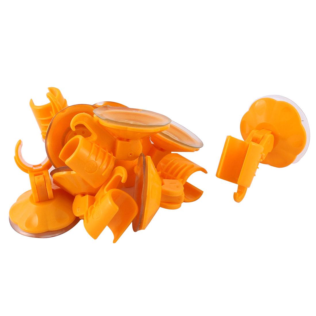 8pcs Attachable Bathroom Shower Head Holder Wall Suction Cup Bracket Orange