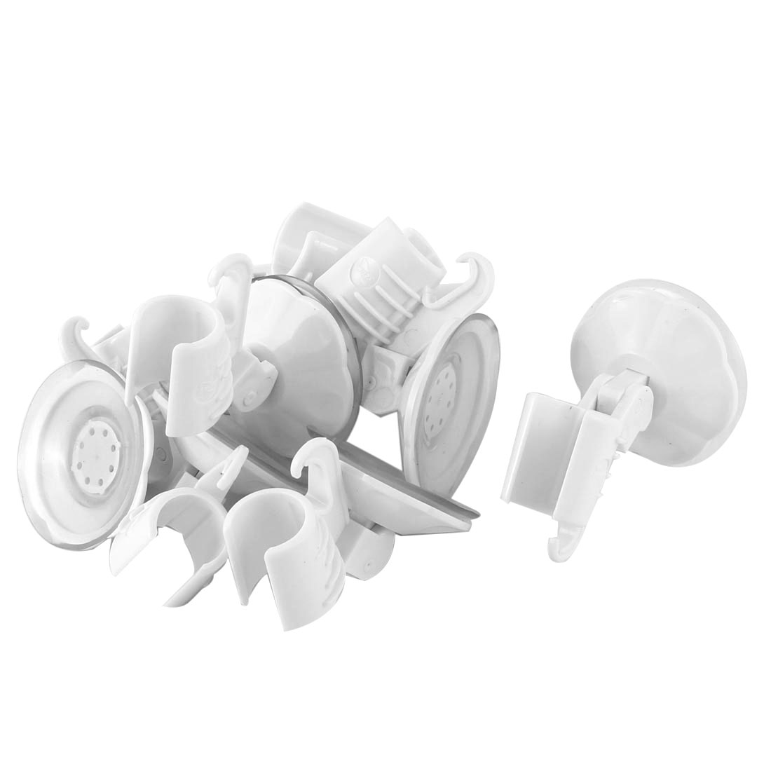 8pcs Attachable Bathroom Shower Head Holder Wall Suction Cup Bracket White