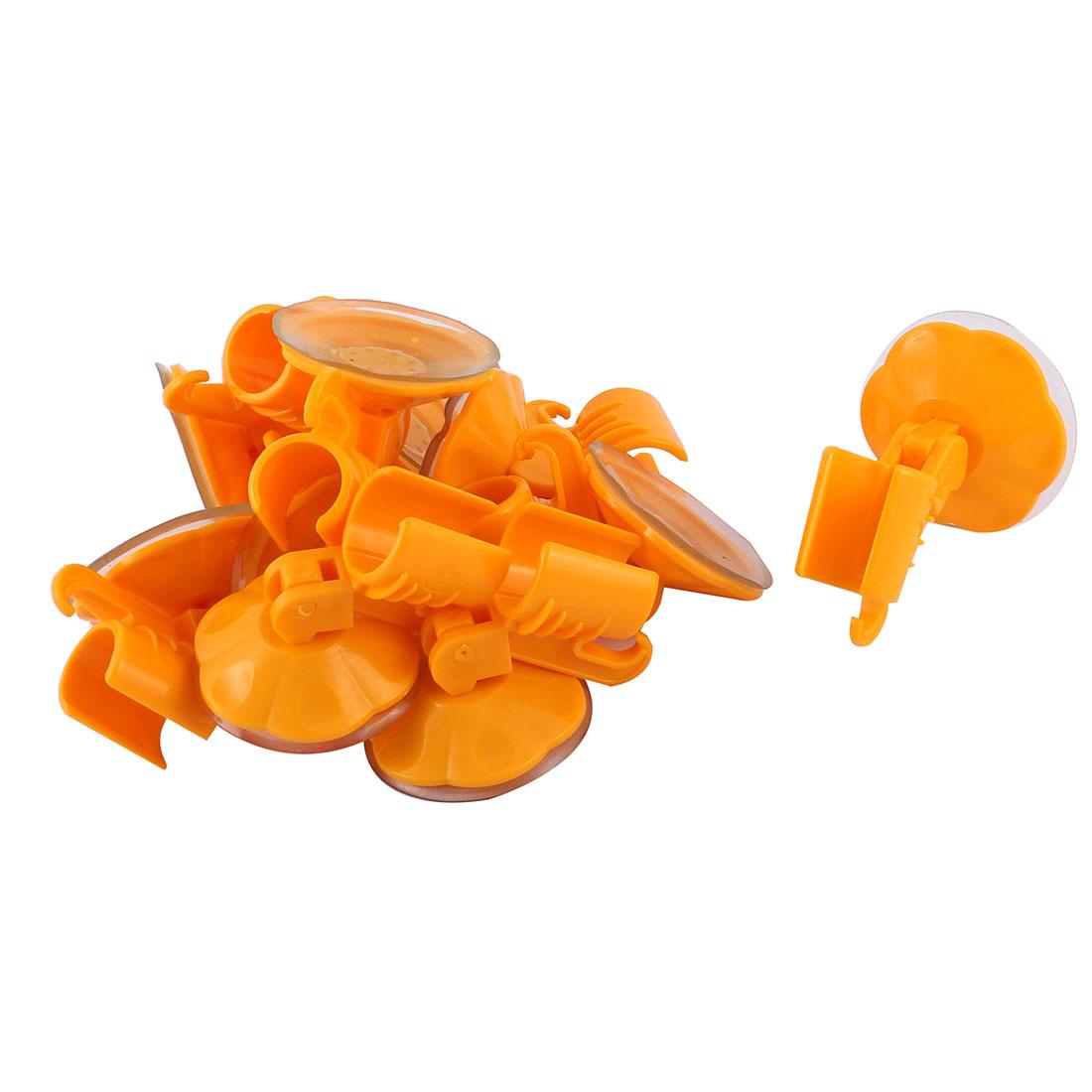 10pcs Attachable Bathroom Shower Head Holder Wall Suction Cup Bracket Orange