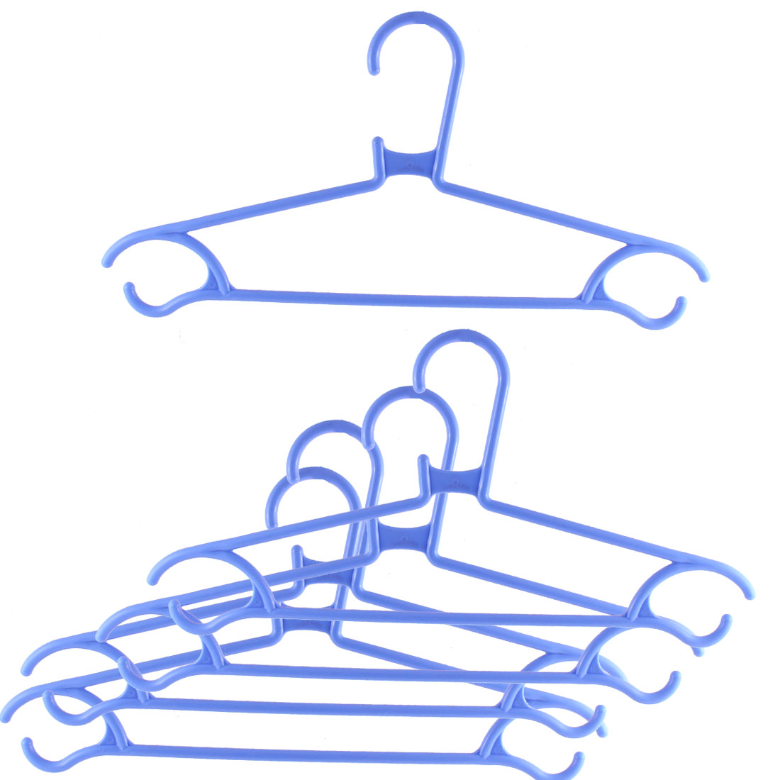 5pcs Household Home Plastic Space Saving Clothes Clothing Hanger Blue