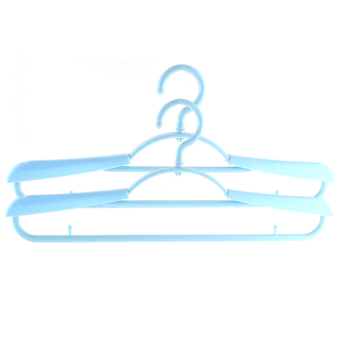 2pcs Plastic Space Saving Non-Slip Household Clothes Clothing Hanger Blue