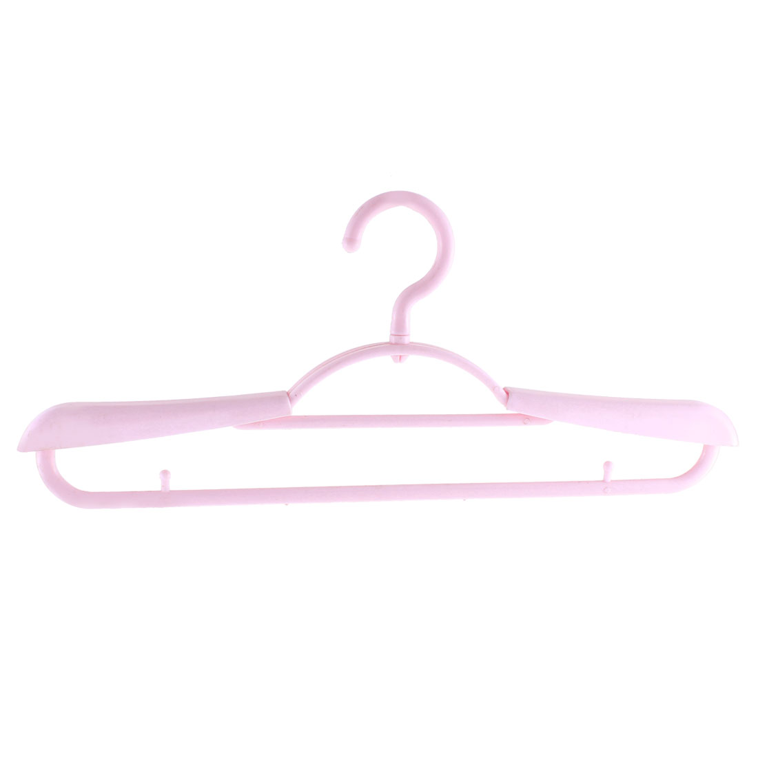 Plastic Space Saving Non-Slip Household Clothes Clothing Hanger Pink