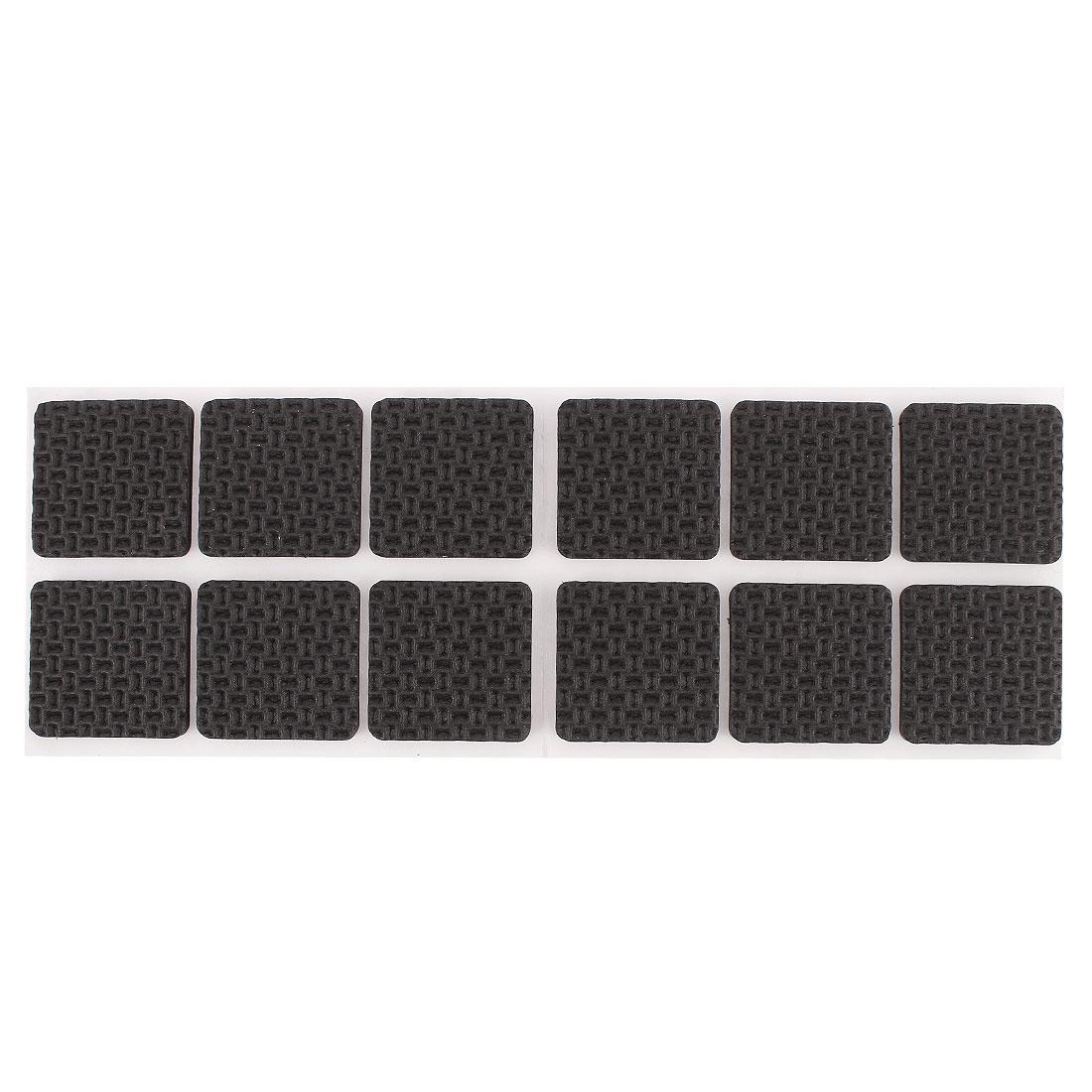 Self-adhesive Square Shape Furniture Protection Cushion Pads Mat 12pcs