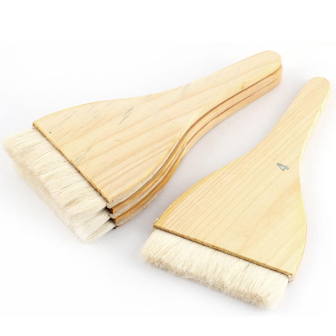 4pcs Soft Bristle Wooden Handle Oil Paint Painter Brush 22cm x 10cm