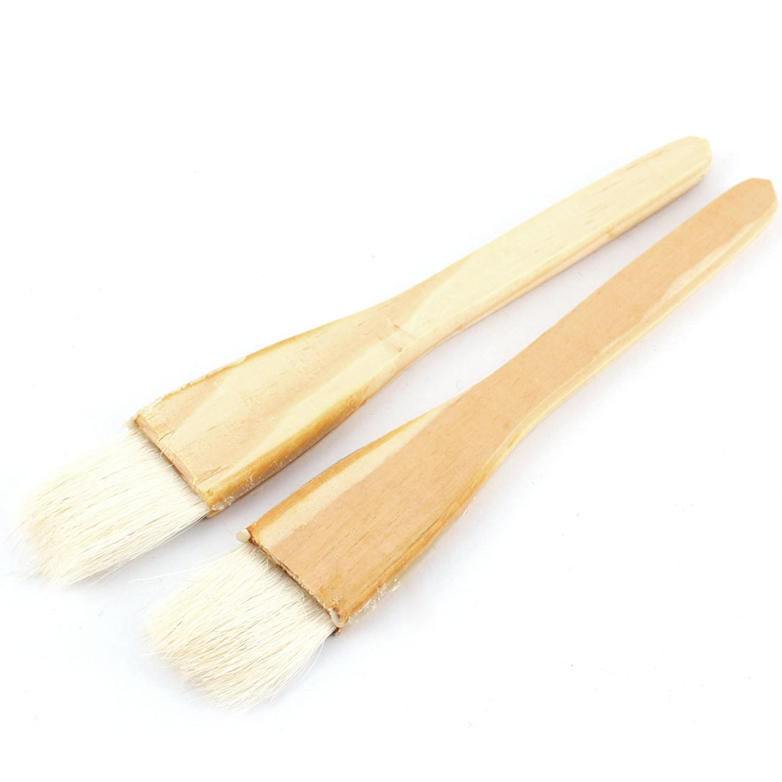 2pcs Soft Bristle Wooden Handle Oil Paint Painter Brush 15.5cm x 2.5cm