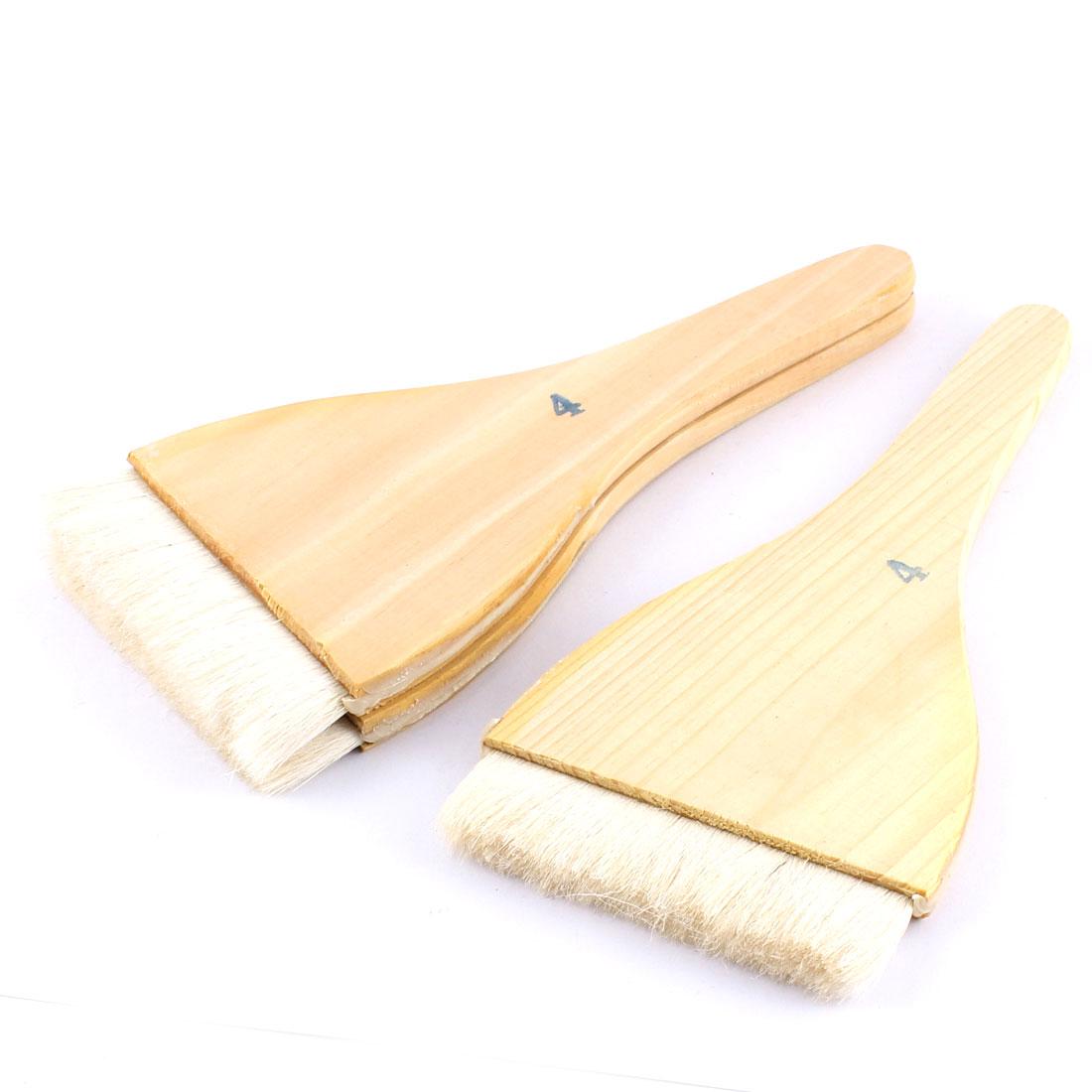 3pcs Soft Bristle Wooden Handle Oil Paint Painter Brush 22cm x 10cm