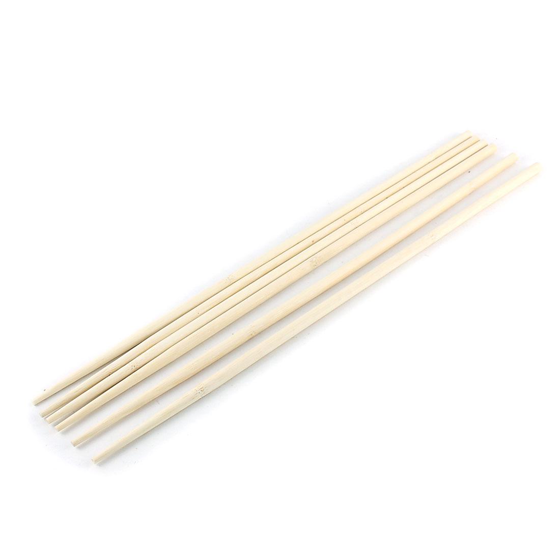 Kitchen Hot Pot Cooking Wooden Noodles Chopsticks 45cm Length 3 Pairs