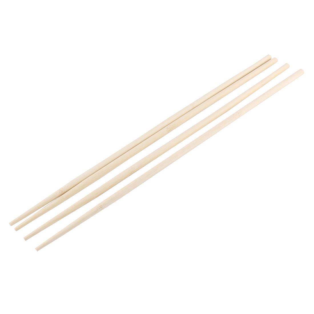 Kitchen Hot Pot Cooking Wooden Noodles Chopsticks 45cm Length 2 Pairs