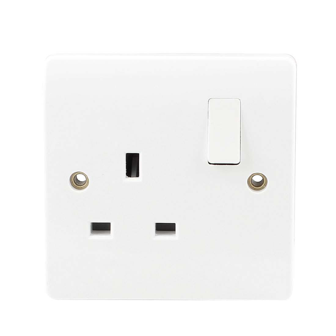 AC 250V UK Socket Single Pole Wall Switched Outlet White 86mm x 86mm