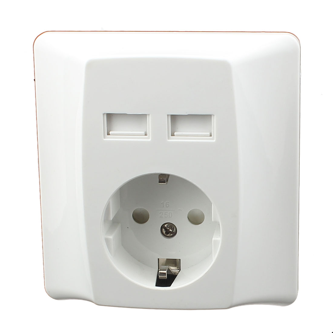 AC 100V-240V EU Socket 2 USB Port Charging DC 5V 2.4A Mains Power Wall Outlet
