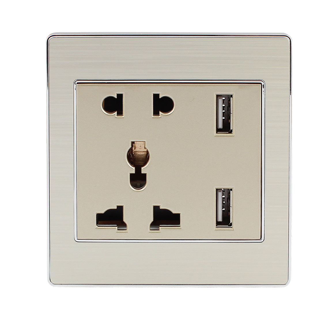 AC 110V-250V AU EU UK US Socket 2 USB Port Charger DC 5V 2100mA Mains Power Receptacle