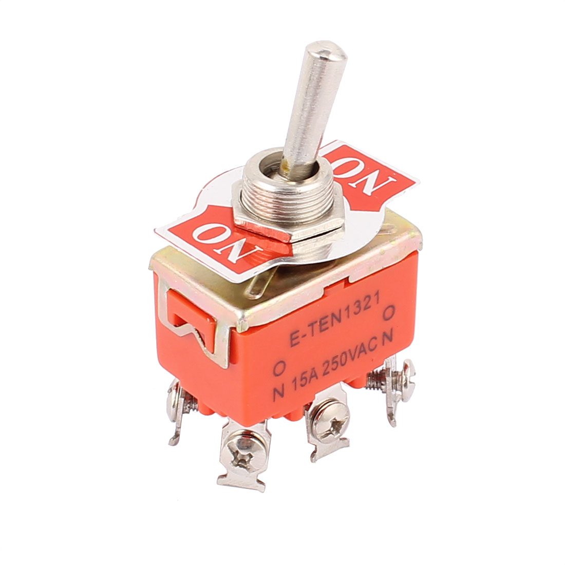 AC 250V 15A ON/ON 2 Position DP2T DPDT 6 Pins Latching Toggle Switch