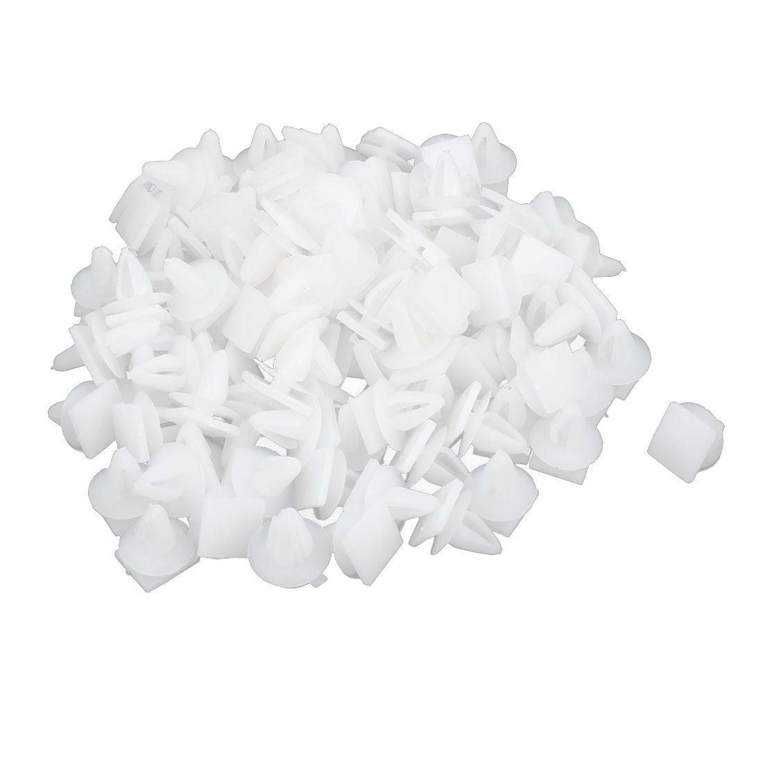 100 Pcs Universal Plastic Rivet Car Door Trim Retainer Fastener Clips White