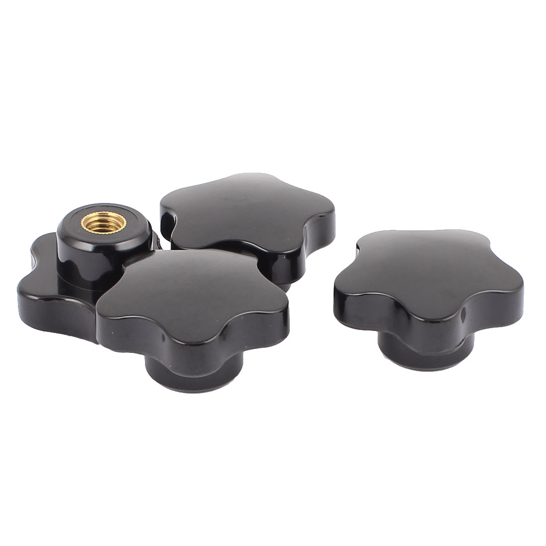 M10x47mm Diameter Thread Hole Black Star Head Clamping Knob Replacement 4 Pcs