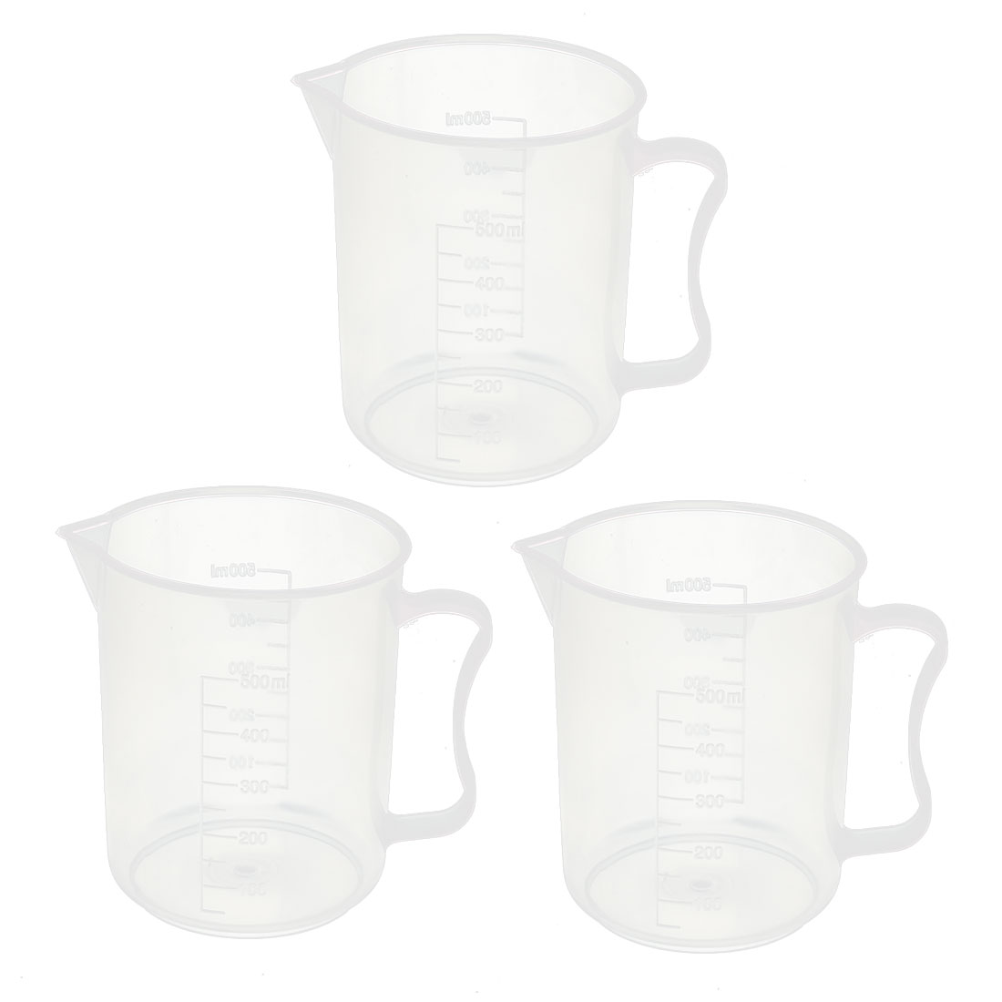 3 Pcs 500ML Measuring Cup Jug Graduated Surface Spoon Cooking Bakery Kitchen
