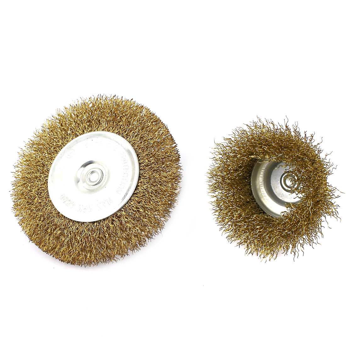6mm Dia Shank Multi Size Flat Cup Wire Wheel Brush 2 in 1 Set for Polishing