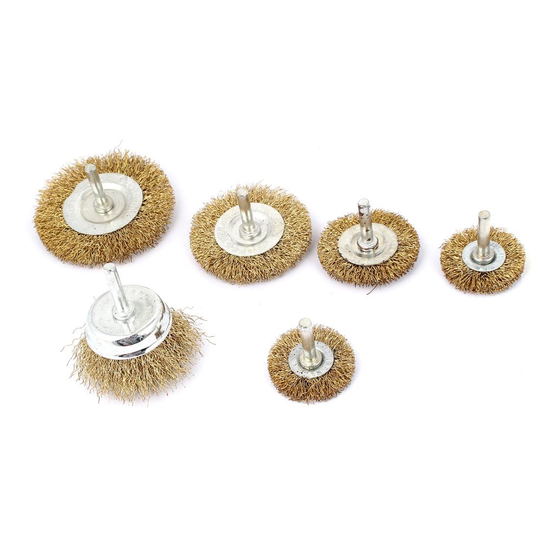 6 in 1 Wire Wheel Brush Grinder Polishing Rotary Tool Metalworking Set