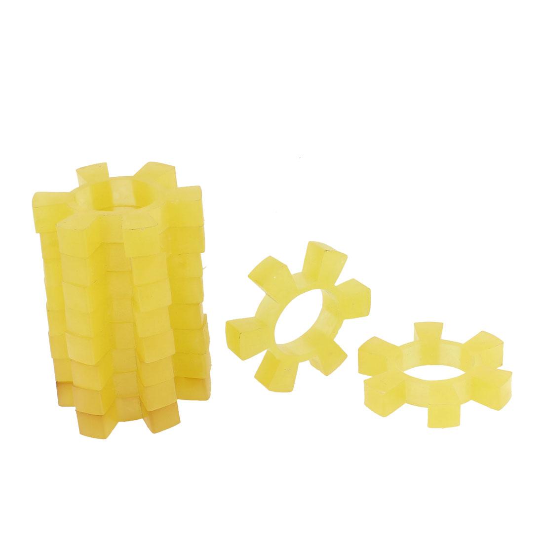 10pcs Flexible Plastic Coupling Coupler Damper Yellow 90mm Dia