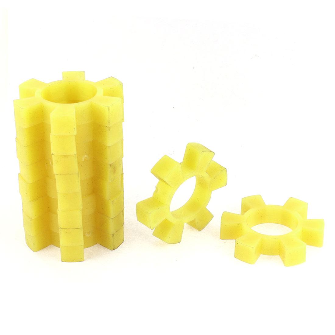 10pcs Coupling Shaft Center Spider Coupler Damper Yellow 42mm Dia Bore