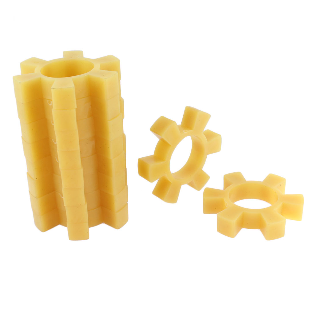 10pcs Plastic Coupling Shaft Center Spider Coupler Damper Yellow 22mm Thickness