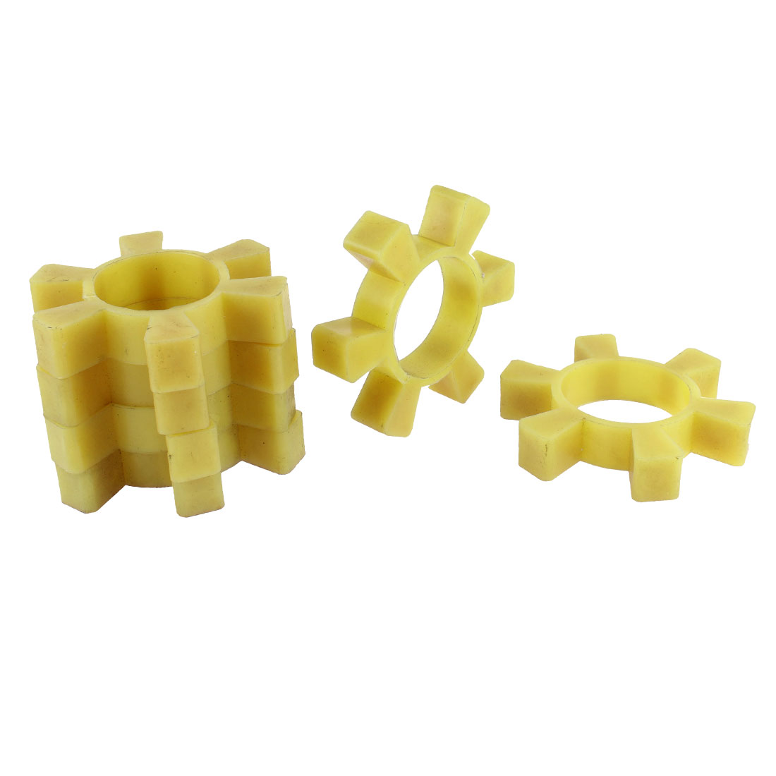 6pcs Flexible Plastic Coupling Coupler Damper Yellow 30mm Thickness