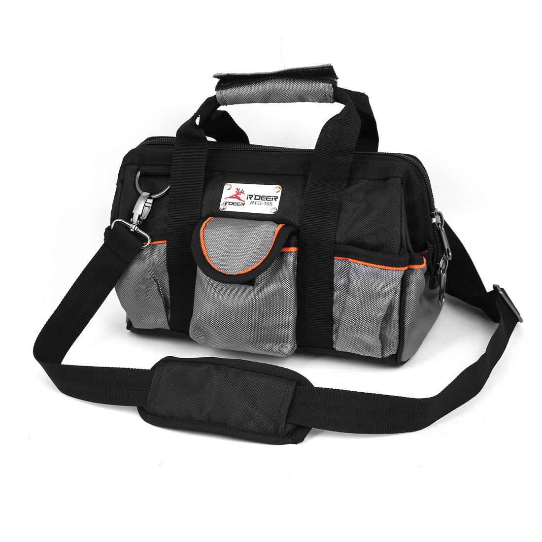 32cm x 18cm x 23cm Shoulder Hand Carry Tool Holder Bag Black Gray