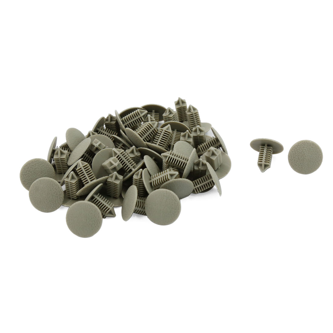 50 Pcs 6.5mm Hole Gray Plastic Rivets Bumper Door Fastener Push Clips for Car