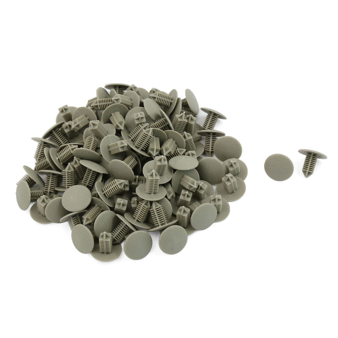 100 Pcs 6.5mm Hole Gray Plastic Rivets Bumper Door Fastener Push Clips for Car