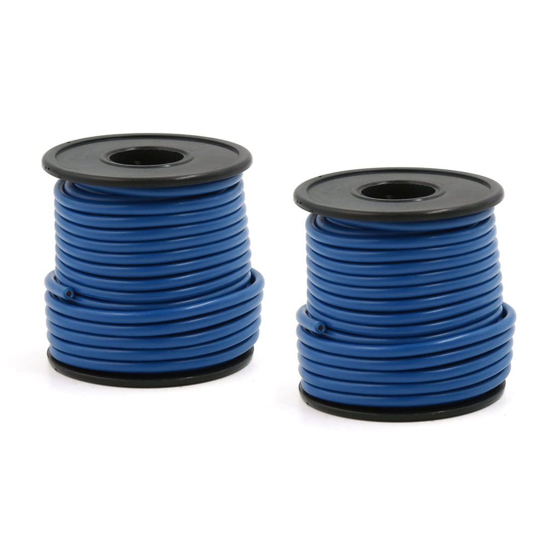 2 Pcs 10 Meters 11 Yards 33 Ft Blue 1.5mm2 Single Core Control Cable Cord for Car